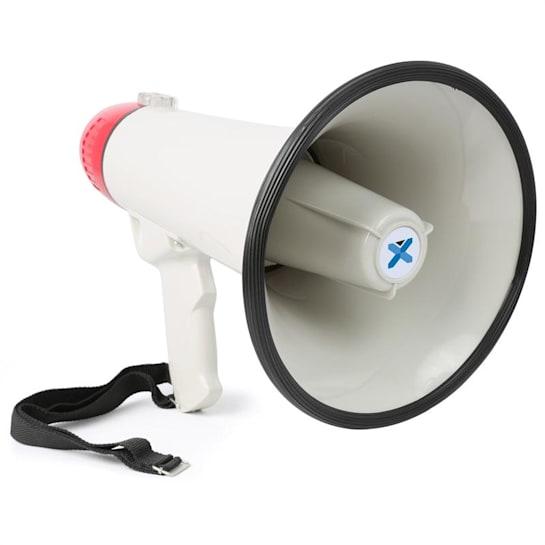 MEG045, megafon, 40 W, funkce nahrávání, siréna, USB, SD, AUX, provoz na baterie, popruh