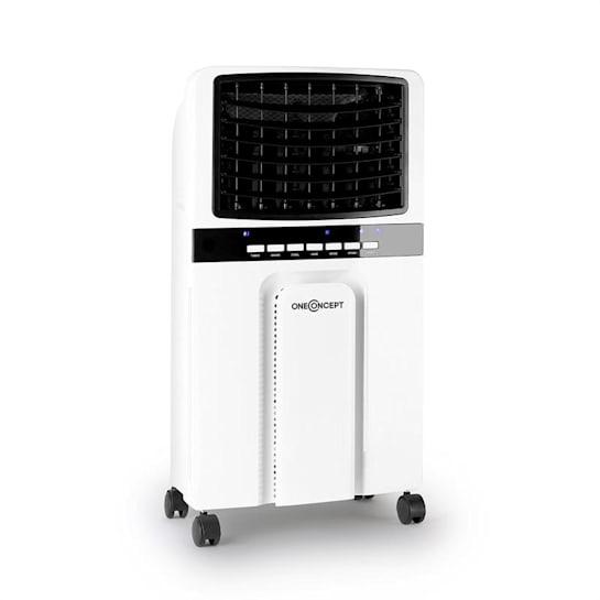 Baltic Blue 3-in-1 Luftkühler Ventilator Luftbefeuchter 360 m³/h | 65 Watt | 6 Liter | 3 Geschwindigkeiten | Oszillation | Fernbedienung | mobil