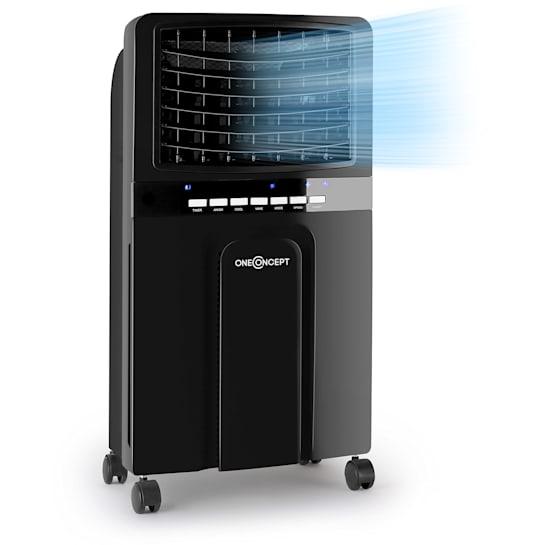 Baltic Black 3-in-1 Luftkühler Ventilator Luftbefeuchter 360 m³/h | 65 Watt | 6 Liter | 3 Geschwindigkeiten | Oszillation | Fernbedienung | mobil