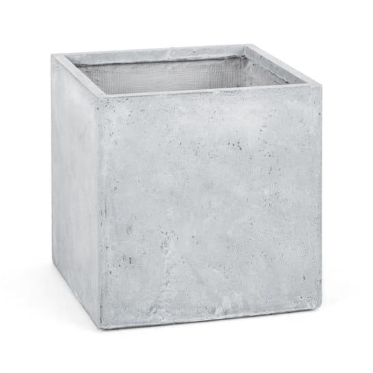 Solidflor Cubo para plantas Maceta 50x50x50 cm gris claro