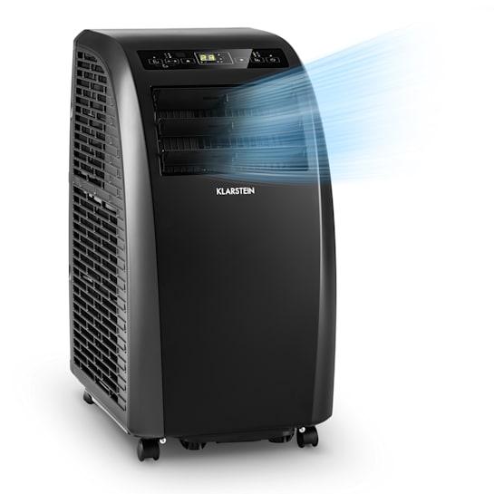 Metrobreeze Rom mobile Klimaanlage 10.000 BTU/3,0 kW EEC A+ Fernbedienung schwarz
