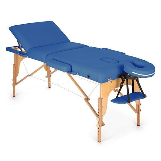 MT 500 Mesa de Massagem 210cm 200kg Acolchoada Dobrável Azul