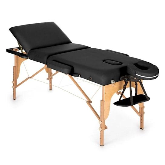 MT 500 Mesa de Massagem 210cm 200kg Acolchoada Dobrável Preto