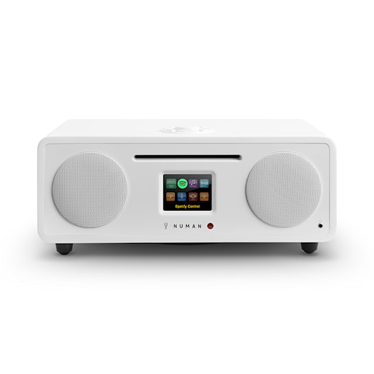 Two 2.1 Radio internet 2.1 CD 30W USB Bluetooth Spotify DAB+ Bianco