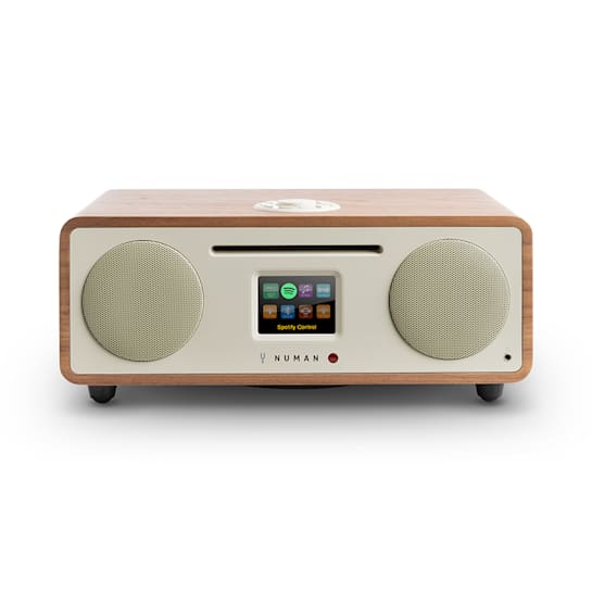 Two – Radio internet 2.1 CD 30W USB Bluetooth Spotify Connect DAB+ - noyer