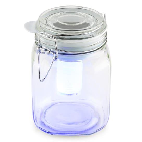 Wetterfrosch, LED světlo, zavařovací sklenice, solární, akumulátor, žluté/modré
