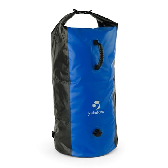 Quintono 100 Trekking-Seesack 100 Liter wasserdicht schwarz/blau