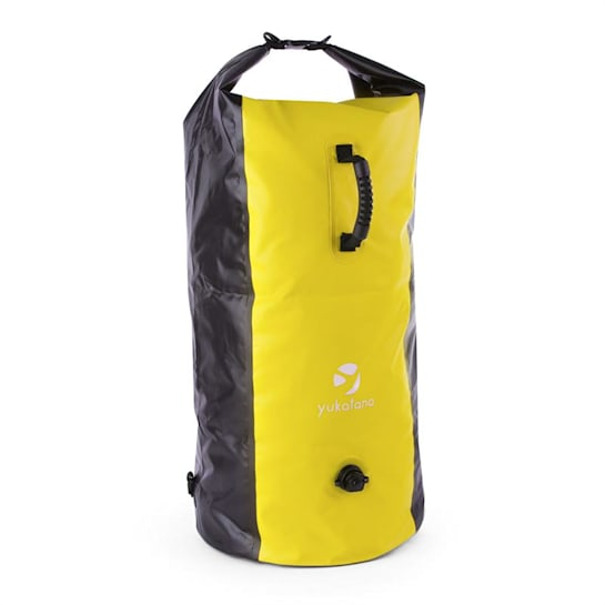 Quintono 100 Trekking Rucksack Duffel Bag 100 Litres Waterproof Black / Yellow