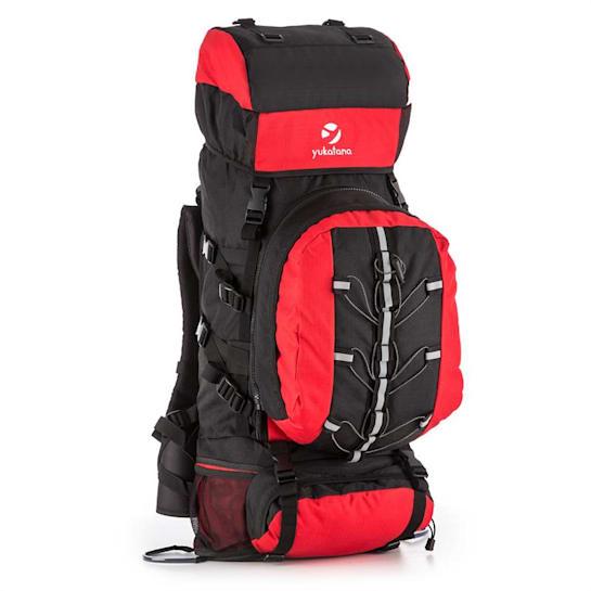 Almer, červená/čierna, trekingový ruksak, 80 l, 40 x 80 x 35 cm, malý batoh