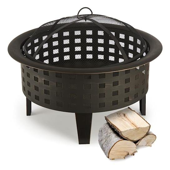 Blumfeldt Boston Fire Bowl Fire Pit Ø 70 cm Steel Blackened