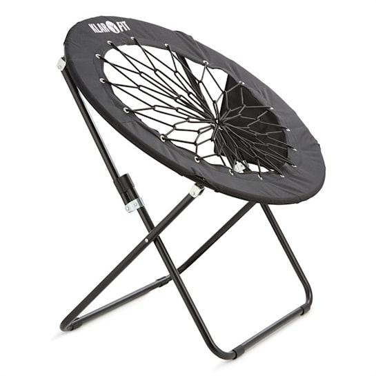 Klarfit Bouncy, černá, bungee židle, 81 x 41/85 cm