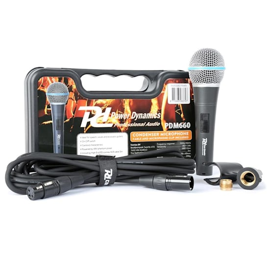 PDM660 кондензационен микрофон XLR +48V