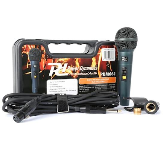 PDM661 microfone dinâmico XLR com adaptador de cabos