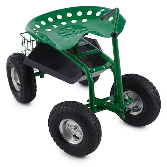 Park Ranger scaun de grădină 130 kg mobil verde
