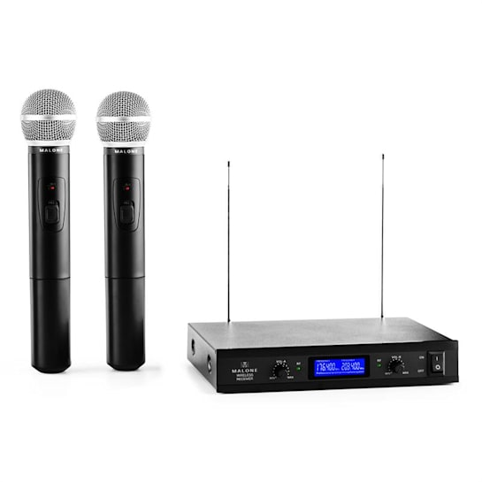 VHF-400 Duo1 2-Channel VHF Wireless Microphone Set 1 x Receiver + 2 x Hand Microphones