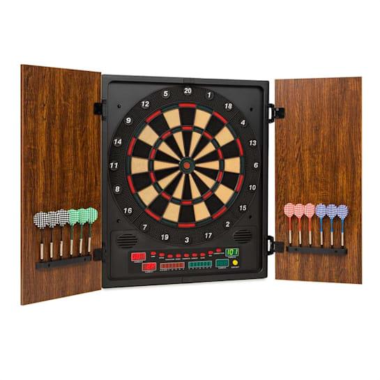 Dartmaster 180 Dartboard Darts Soft Tip Doors brown