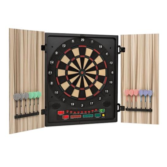 Dartmaster 180 Dartboard Darts Soft Tip Doors beige