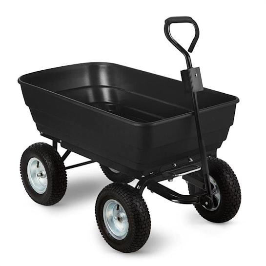Black Elephant Garden Wagon Trolley 125 l 400 kg Tiltable Black