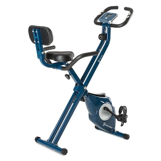 Azura M3 szobakerékpár, max. 100 kg, pulzusmérő, összecsukható, 3 kg, kék