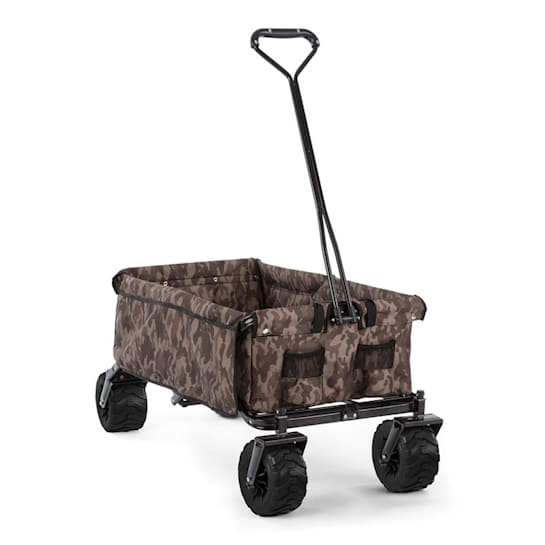 The Camou Hand Cart Hand Wagon Foldable 70 kg 90l Wheels Ø10cm Camouflage