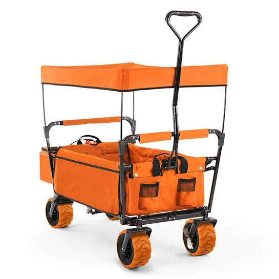 The Orange Supreme Bolderwagen Handwagen opvouwbaar 68kg Zonnedak