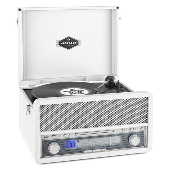 Belle Epoque 1907 Sistema Audio Retrò Giradischi Cassetta Bluetooth USB CD