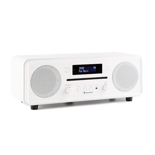 Melodia CD DAB+/UKW Desktop Radio CD-Player Bluetooth Alarm Snooze weiß