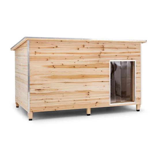 Schloss Wuff, búda pre psa, veľkosť XL, 110 x 160 x 100 cm, izolovaná, závetrie, drevo