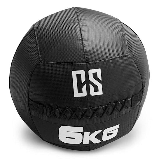Bravor Wall Ball Palla Medica PVC 6kg Nera