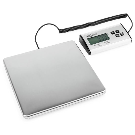 Marketeer digitale Paketwaage 150kg/50g 27x27cm