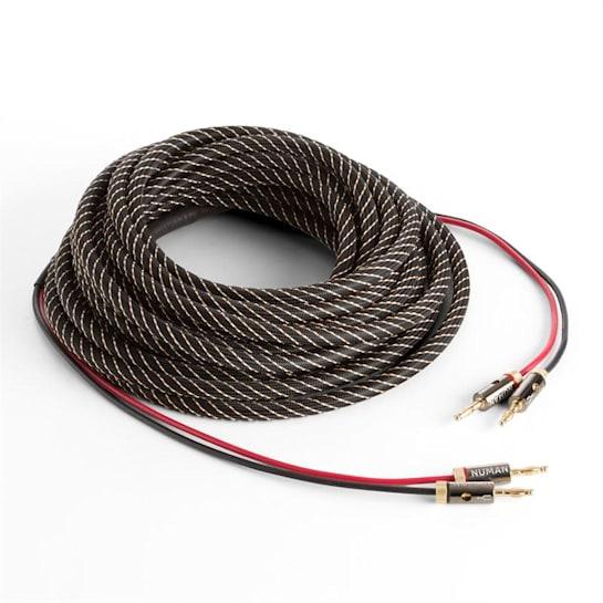 reproduktorový kábel, OFC, medený, 2 x 3,5 mm², 5 m, textilný obal, štandardizovaný