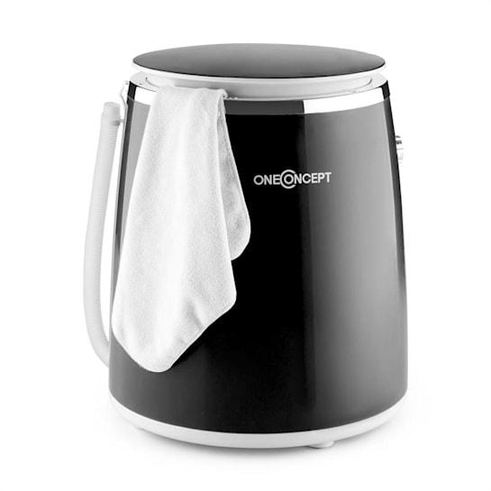 Ecowash-Pico Mini Máquina de lavar roupa, centrifugação 3,5 kg 380 W preta