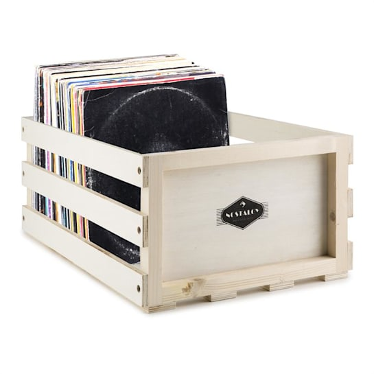 Record Box Schallplatten-Kiste LP-Box Multiplex-/Holz