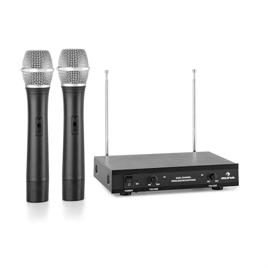 VHF-2-H 2-Channel VHF Wireless Microphone Set 2 x Hand Microphone 50m