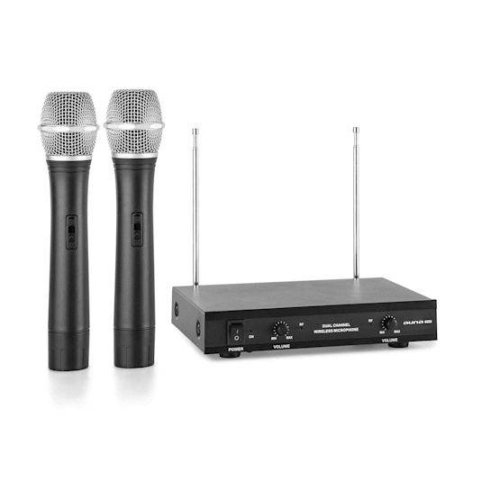 VHF-2-H Juego de micrófonos inalámbricos VHF de 2 canales 2 micrófonos de m