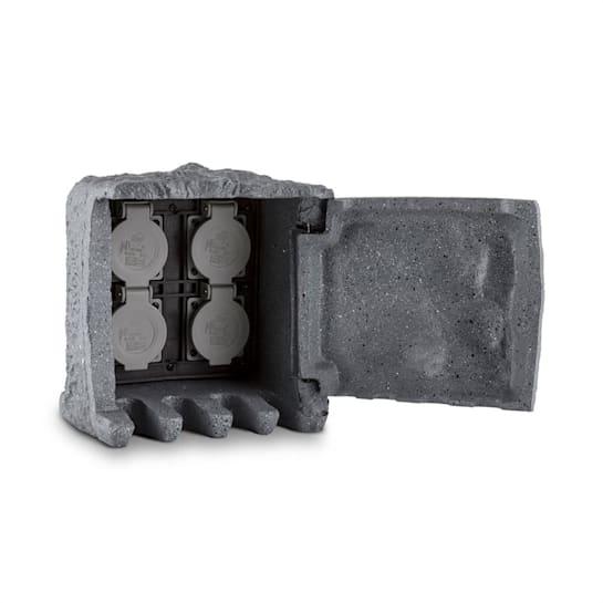 Power Rock pihapistorasia 4-osainen jakaja 5m pistorasiakivi energia