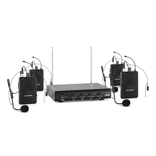 VHF-4-HS 4kanálová VHF mikrofonní sada 4x headset 50 m