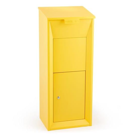 Postbutler Paketbox poštová schránka na balíky stojaca poštová schránka žltá