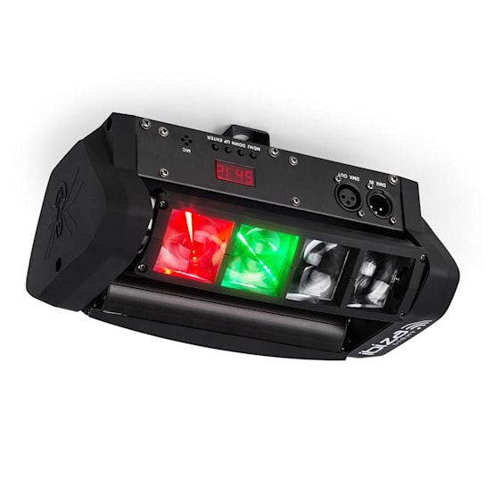 LED8-Mini Mini-Spider LED světelný efekt DMX včetně montážního ramene