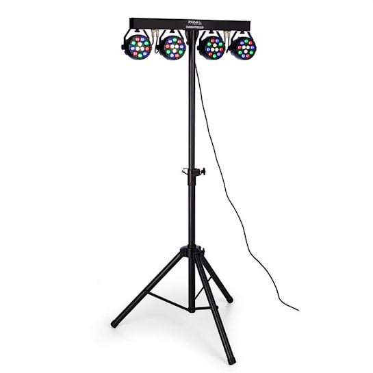 DJLIGHT80LED, STOJALO S ŠTIRIMI 1 W RGBW LED PAR REFLEKTORJI