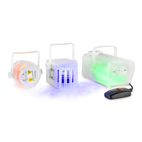 CLEAR-PACK Set Effetti Luce Laser Firefly Effetto Derby 400W Macchina del Fumo