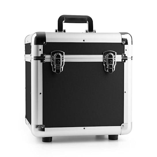"""RC100 12"""", Aluminijasti kovček za plošče,Ohišje za gramofonske plošče, 100 LP plošč, črne barve"""