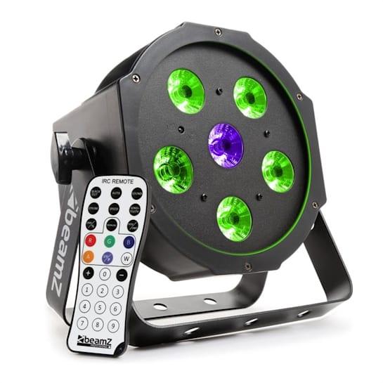 BFP110 Projektor FlatPAR LED 3-w-1 5x 6 W RGB-LED DMX pilot na podczerwień