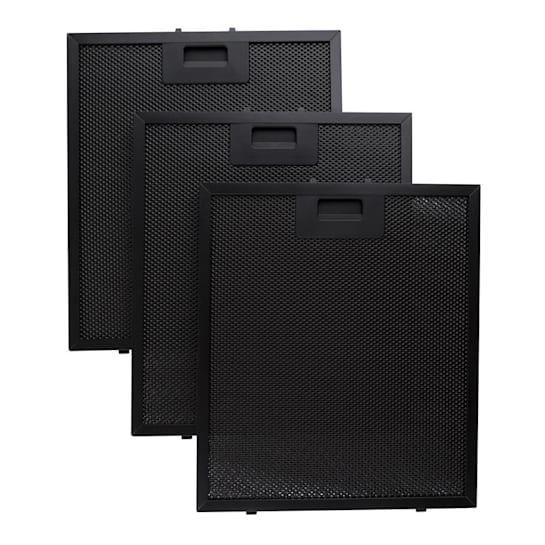 Hliníkový filtr 26,5 x 31cm náhradní vyměnitelný filtr černá