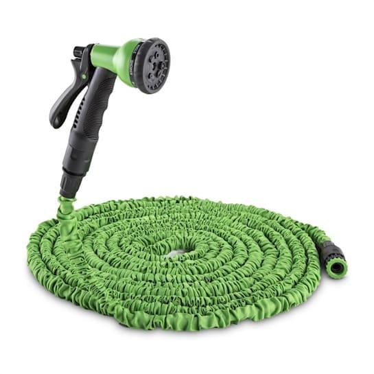 Water Wizard 15 Flexibler Gartenschlauch 8 Funktionen 15m grün