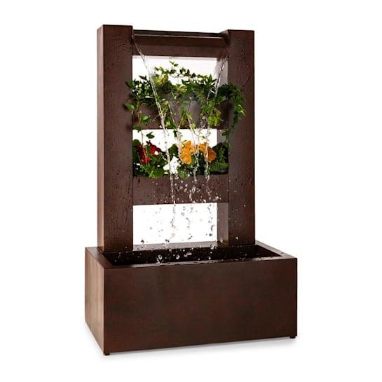 Lemuria kerti szökőkút, virágcserép, vízesés, pumpa 30W, 10m kábel