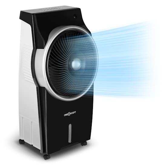Kingcool 4-in-1 Luftkühler Ventilator Luftbefeuchter Luftreiniger 2340 m³/h | 95 W | 8 Liter | 3 Geschwindigkeiten | Ionisator | Oszillation | mobil | Fernbedienung