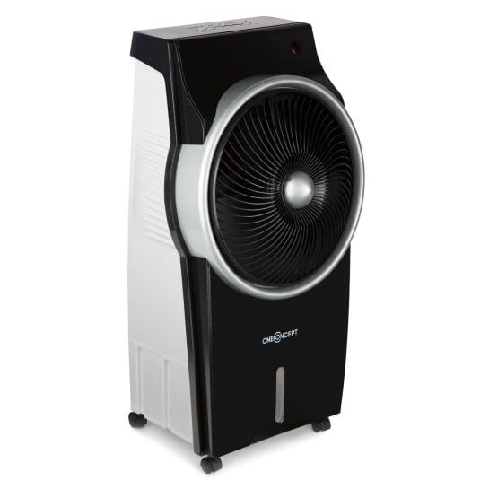 Kingcoolrăcitor de aer 3-in-1 aer conditionat- ventilator- ionizator, temporizator 890m³ / h oscilație, control de la distanță negru / argintiu