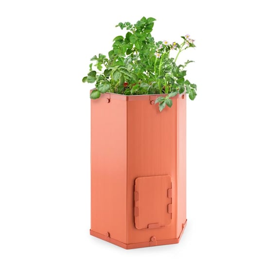 Potatoe-Pro, virágcserép burgonya termesztésére, kihúzható fedél a gyűjtődobozon, terrakotta