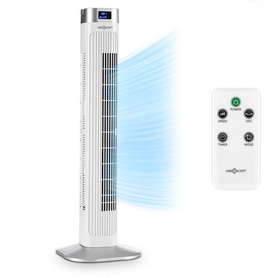 Hightower 2G Säulenventilator Turmventilator | 42 W | Oszillation 45° | 1.807 m³/h | Timer | 3 Modi | LED-Display | Temperaturanzeige | Fernbedienung